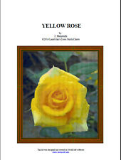 YELLOW ROSE - cross stitch chart