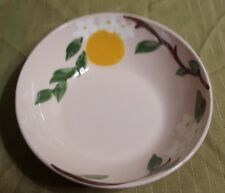 """Vintage 7"""" Orchard Ware Bowl Hand Decorated Made In California"""