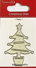 DOVECRAFT SMALL STEEL CUTTING DIE - CHRISTMAS TREE WITH TRIMMINGS & BAUBLES
