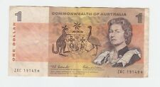 $1 STAR NOTE Paper Banknote Commonwealth of Australia Coombs Wilson ZAC  S-982