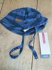 Denominarlo Denim Blu A Righe look vintage bambino cappello da 0 2 mesi nuova con etichetta cotone