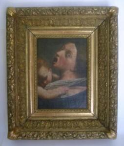 FINE 17TH CENT ITALIAN CARAVAGGIO SCHOOL OLD MASTER PAINTING GILT FRAMED
