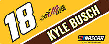 NASCAR #18 Kyle Busch Bumper Sticker-NASCAR Decal