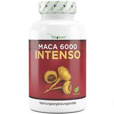 Maca 6000 Intenso 200 hochdosierte Kapseln (Vegan) 6000mg Testo & Libido Booster