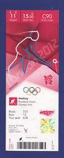 Orig.Ticket    Olympic Games LONDON 2012 - HOCKEY  3.Place   Australia - England
