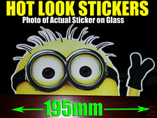 PEEPING MINION JDM HOON Sticker Decal Despicable Me Family Car Truck Wall Window