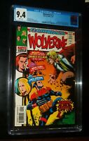 WOLVERINE #-1 1997 Marvel Comics CGC 9.4 NM White Pages