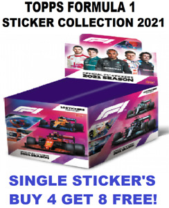 Topps FORMULA 1 STICKER COLLECTION 2021! Single Stickers! BUY 4 GET 10 FREE!