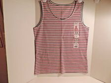 acecff787c721 New Listing NEW WOMEN S SLEEVE LESS TANK TOP BY WHITE STAG TEE STRIPES SIZE  LARGE KAMRT USA