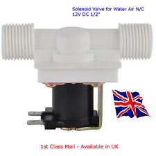 "DC12V Magnetic Solenoid Valve for Water Air - N/C 12V DC 1/2"" Available in UK"