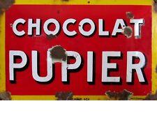 "TIN SIGN ""Chocolat Pupier"" Dessert Art Deco Garage Wall Decor"
