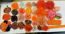 33 New Orange Craft Shabby Flowers and Accessories, make whatever you want  O1