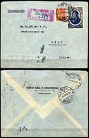 274 - Portogallo - Raccomandata via aerea da Lisbona a Basilea (Svizzera), 1946
