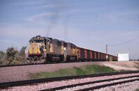 UNION PACIFIC Railroad Locomotives Train Original 1988 Photo Slide