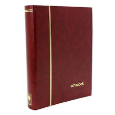 Schaubek E5050/1 Stock Book 32 White Pages Cover 230 Mm X 310 Mm Red