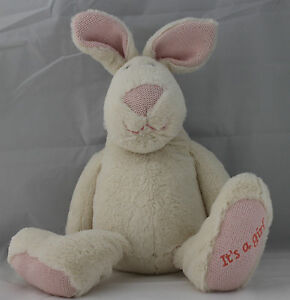 EASTER BUNNY RABBIT PLUSH TOY 40CM TALL SUPER FLUFFY IT'S A GIRL