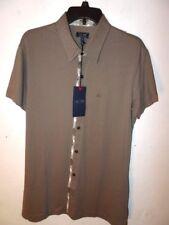 NEW ARMANI JEANS Mens Short Sleeve Casual Button Down Shirt XL Green