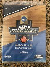 2016 NCAA Men's Basketball Tournament Program 1st & 2nd Round Oklahoma City