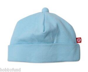 Zutano Boy 12 18 Month Baby Aqua pastel Blue Solid Hat Beenie Accessory Classic