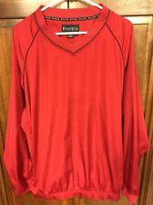 FootJoy Fj Pullover Rain Wind Shirt Jacket V-Neck Red Men's Xl
