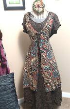 Artsy Hippie Peasant Boho Layered Batik Dress~90s Vintage~All That Jazz~7/8~Med