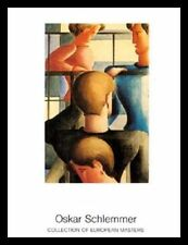 Oskar Schlemmer grupo am barandas i póster imagen son impresiones artísticas & marco de aluminio 90x70cm