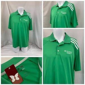 Adidas ClimaCool Kapalua Hyundai Polo Shirt L Green Poly NWT $75 YGI S1-219