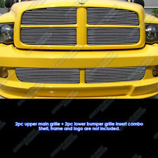 Fits 2004-2005 Dodge Ram SRT 10 Replacement Style Billet Grille Combo