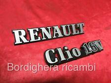 RENAULT CLIO 1.8 16V STEMMA LOGO SIGLA SCRITTA BADGE SCRIPT EMBLEM COFANO NEW