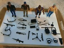 """Rare Vintage The A-Team Figures Galoob 6"""" Set Of 4 plus accessories.immaculate"""