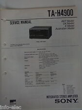 Schema SONY - Service Manual Integrated Stereo Amplifier TA-H4900 TAH4900