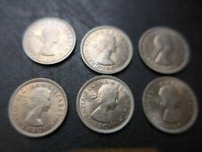 1959  Queen Elizabeth  Sixpences. Bulk Lot. Mint Uncirculated.
