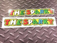 THE SPARKY Rossi Style Car Fairing Motorcycle Scooter Stickers  2 off 200mm