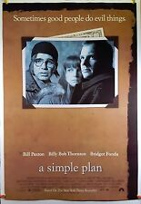 A Simple Plan 1998 Original Movie Poster 27x40 Rolled, Double-Sided