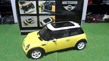 MINI  COOPER BMW Jaune Yellow au 1/18 KYOSHO 08551Y voiture miniature collection