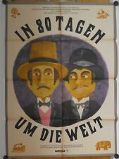IN 80 TAGEN UM DIE WELT (DDR-Kinoplakat '66) - DAVID NIVEN / CHARLES BOYER