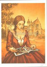 Ex-libris PATURAUD Pin up Eglise 250ex signé 15x21
