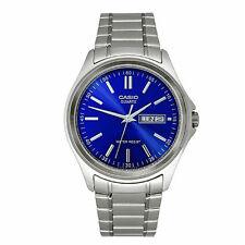 Casio MTP1239D-2A Mens Blue Dial Stainless Steel Dress Watch Modern Day/Date