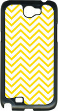 Yellow Chevron Design on Samsung Galaxy Note II 2 Hard Case Cover