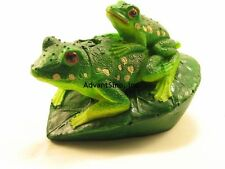 Green Piggy Back Frog Bubble Decoration/Ornament For Aquarium (SHIP FROM USA)