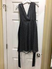 Ladies Vintage Apparel Black White Polka Dot Marilyn Monroe Style Dress Sz 3 Nwt