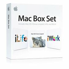 NEW Apple Mac Box Set iWork iLife & Mac OS X Snow Leopard BOXED NEW