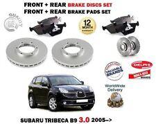 FOR SUBARU TRIBECA 3.0 B92005> FRONT + REAR BRAKE DISCS SET+ DISC PADS KIT