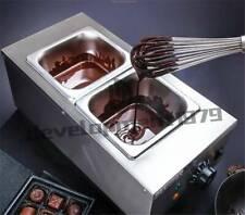 Electric Water Heating Chocolate Melter 2-Tanks Chocolate Melting Machine