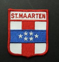 ST MAARTEN CARIBBEAN ISLAND EMBLEM EMBROIDERED PATCH 2.5 X 3 INCHES