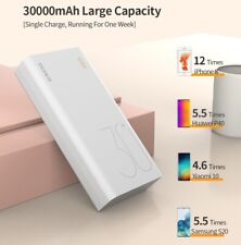 30000mAh Power Bank Charger Quick Charging USB-C Battery Pack For Phones iPhone