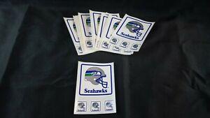 Lot of 20 • VINTAGE SEATTLE SEAHAWKS  TEAM STICKER / DECAL NFL • ORIGINAL LOGO