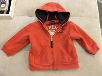 Baby Boy The Children's Place Orange Hoodie Size 3T SWEATSHIRT