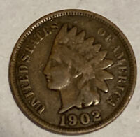 FREE SHIP! VG 1902 Indian Head Cent -110+ Year Old Penny- Type Coin - QTY