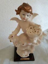 "Signed Giuseppe Armani Figurine Angel with Flowers ""Innocence"""